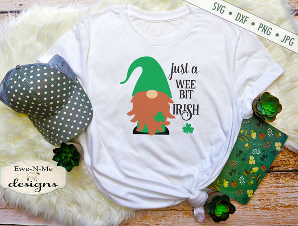 Shamrock Gnome - Wee Bit Irish - St Patricks Day - SVG