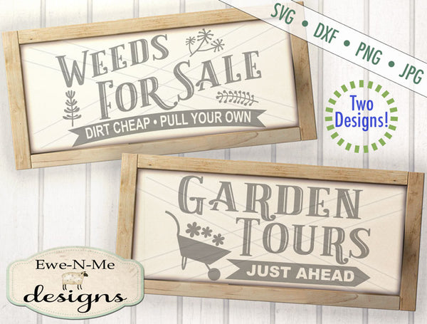 Garden Tours - Weeds For Sale - SVG