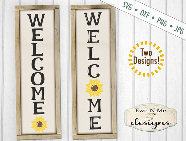 Welcome Sunflower Vertical - SVG