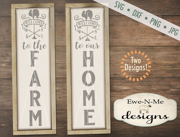 Welcome Weathervane - Home Farm  - SVG