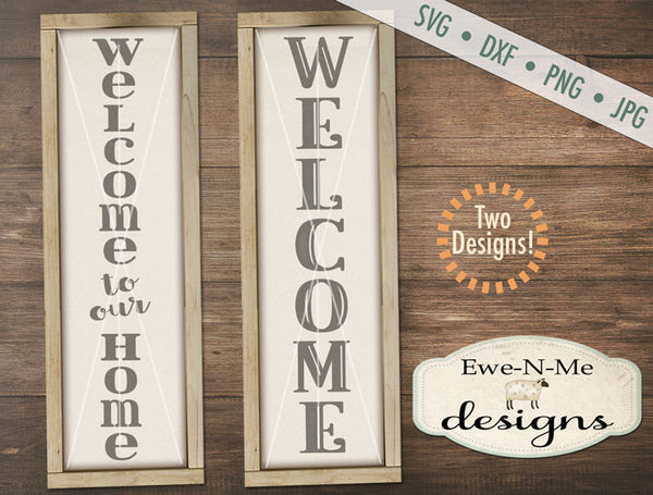 Welcome Vertical - SVG
