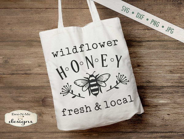 Wildflower Honey - Bee - SVG