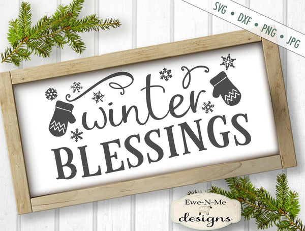 Winter Blessings - Mittens - SVG