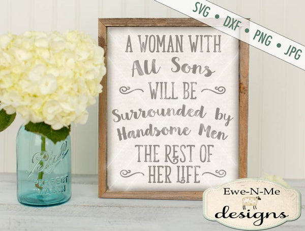 Woman with All Sons SVG
