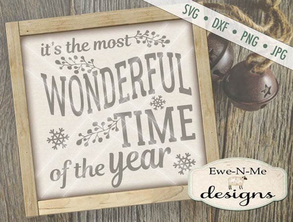 Most Wonderful Time - SVG