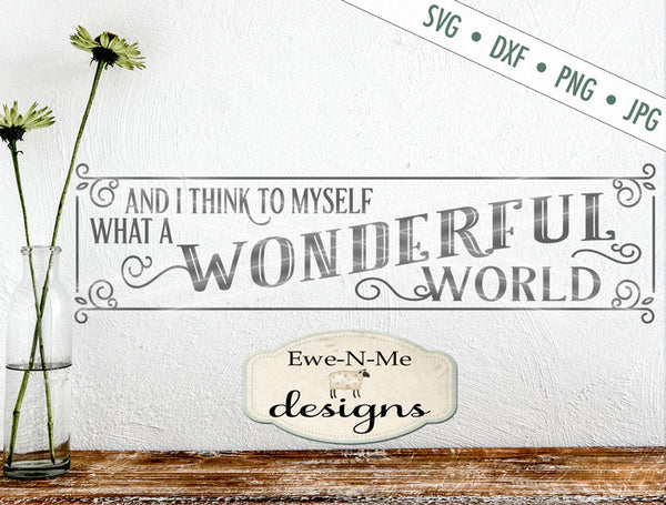 What A Wonderful World - SVG