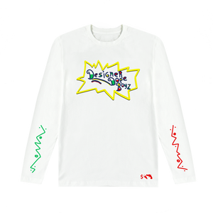 Designer Dope Boyz Long Sleeve Tee (White)
