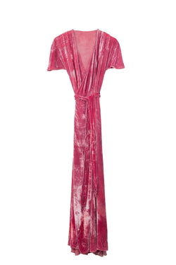 Velvet Venus Wrap Dress - Lotus Flower