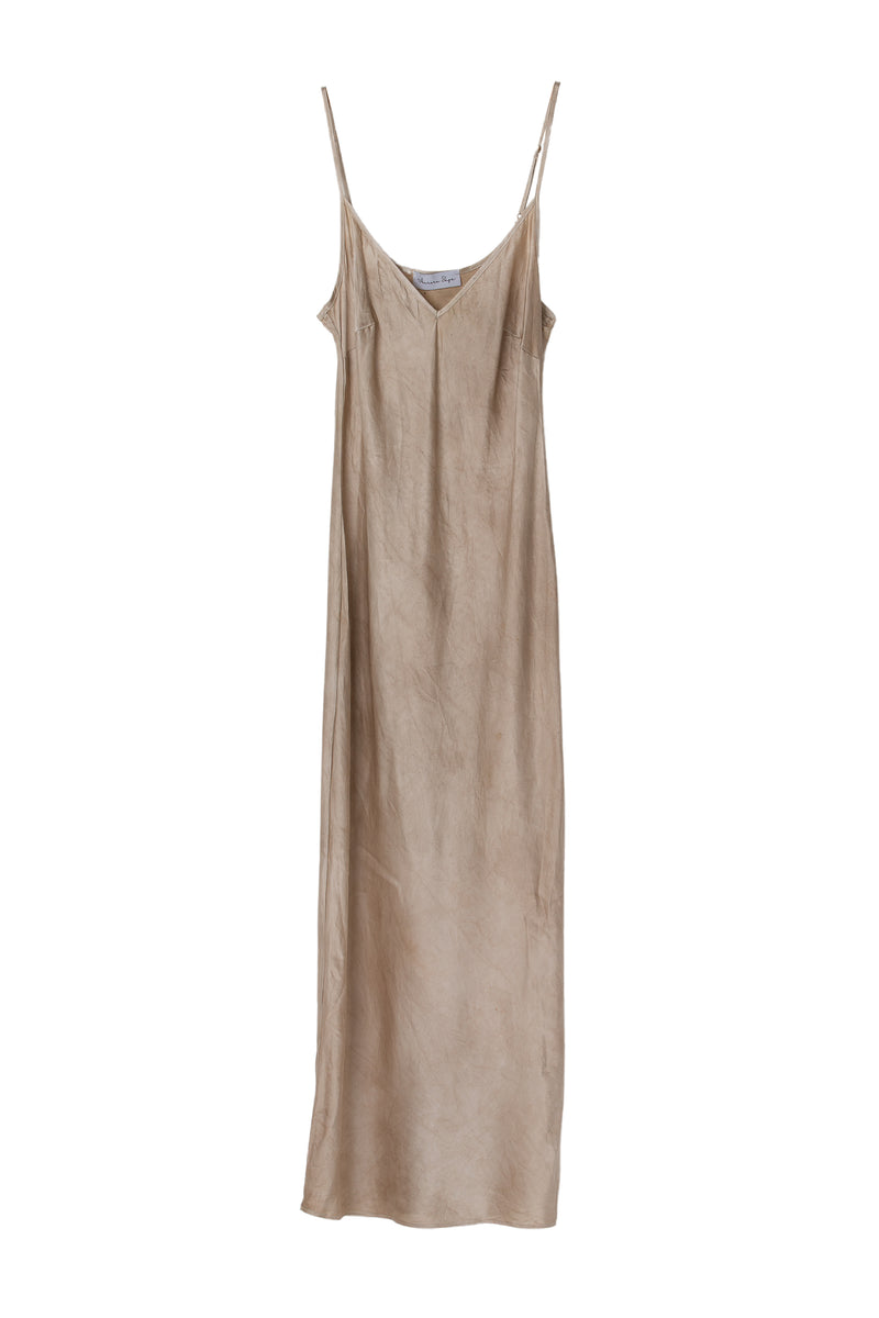 APHRODITE MIDI DRESS - ALMOND GREIGE