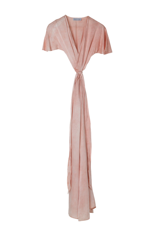 VENUS WRAP DRESS - RUSTY ROSE