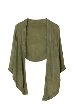 GEORGETTE WRAP TOP - MOSS FIELDS