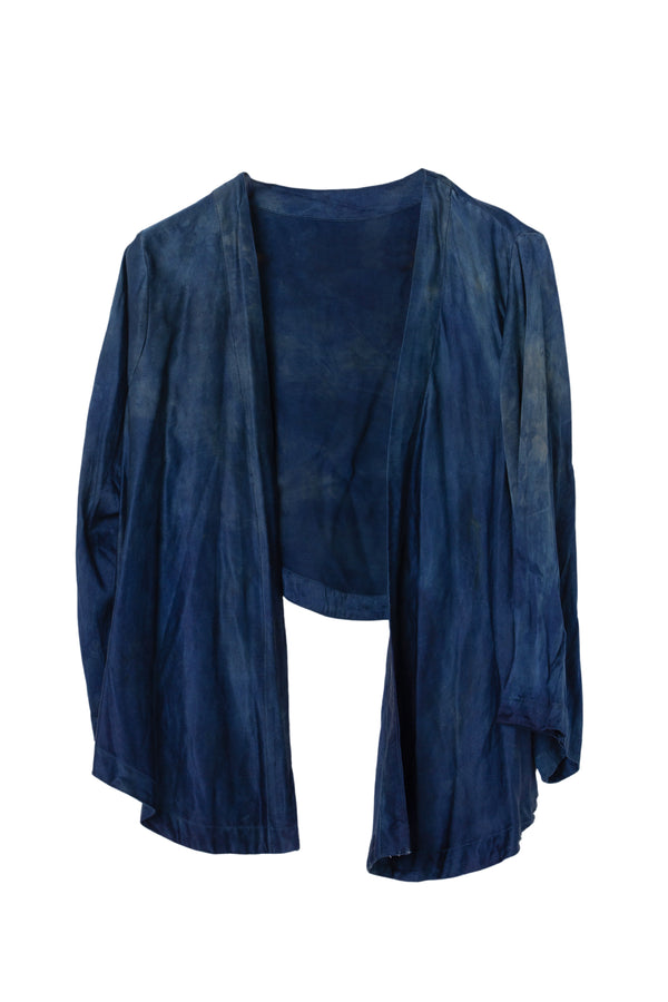 GEORGETTE WRAP TOP - SAPPHIRE - S - Last One Left!