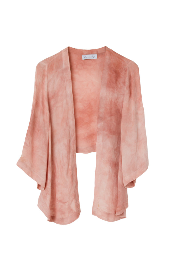 GEORGETTE WRAP TOP - RUSTY ROSE