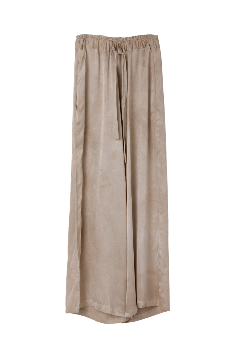 FRIDA WIDE LEG PANT - ALMOND GREIGE