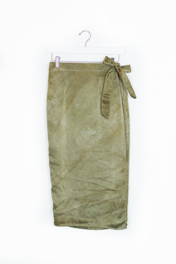 Circe Wrap Skirt - Sage - S