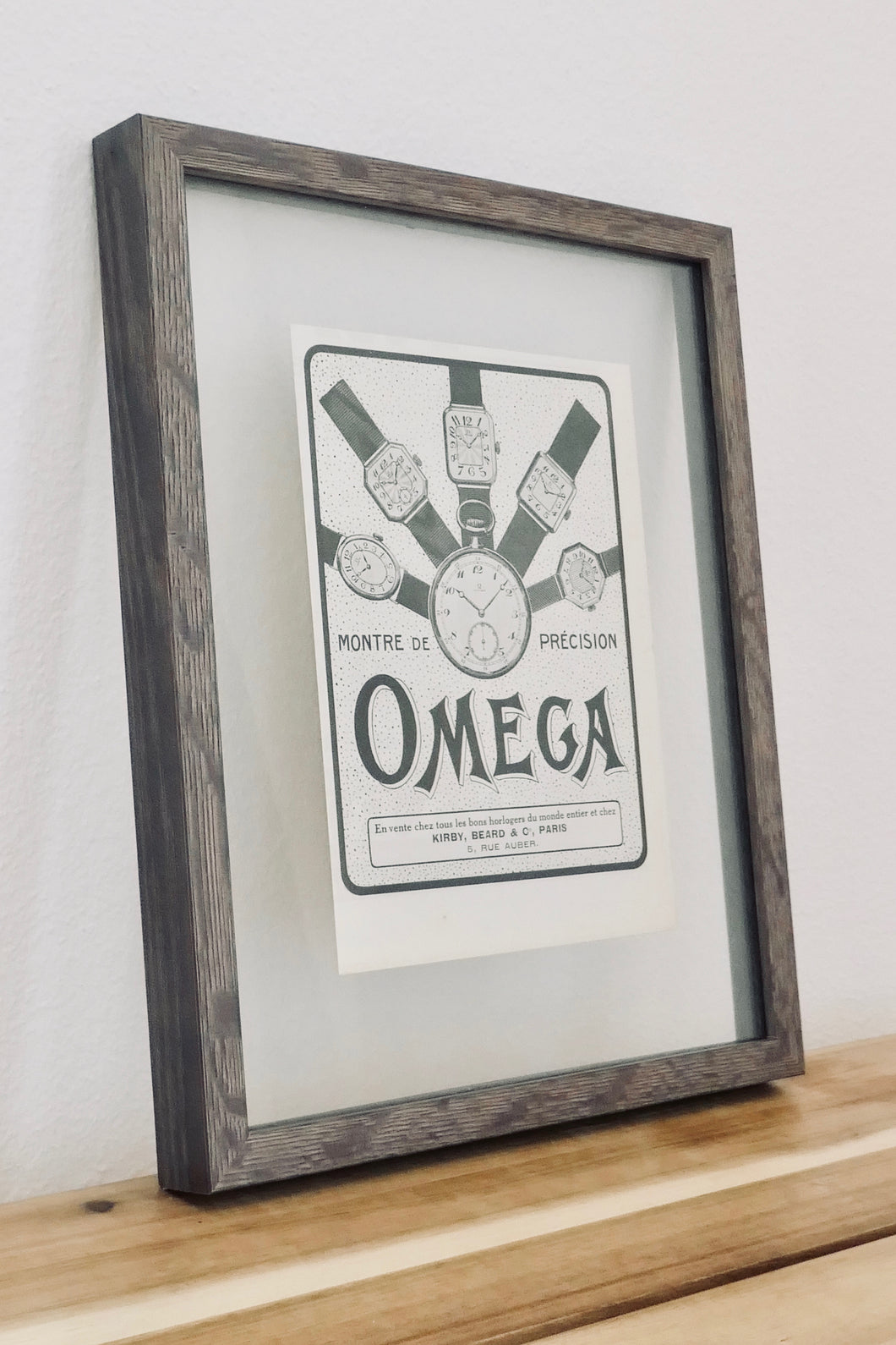 Vintage Framed Omega Advertisement