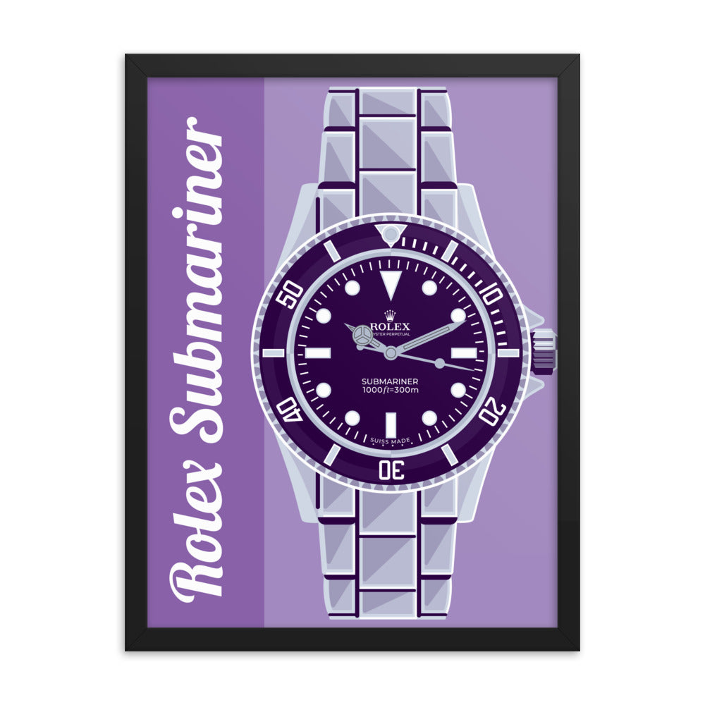 Rolex Submariner Framed Poster