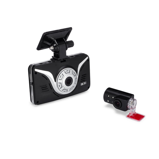 Full HD Car Black Box - ROAD VIEW Dash Cam + 2nd Camera (IR Inside Driver/Passenger View)