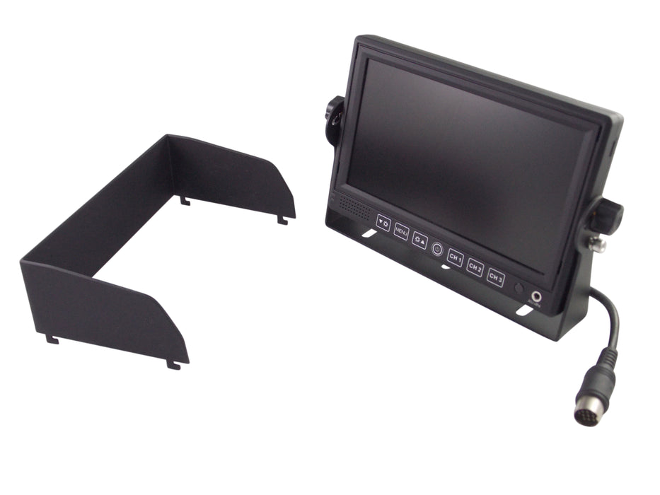 "7"" LCD Color Monitor With Sun Shield"