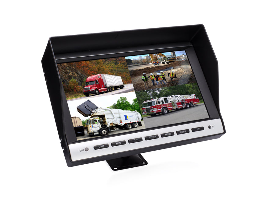 "10.2"" LCD Color Monitor - 4CH"