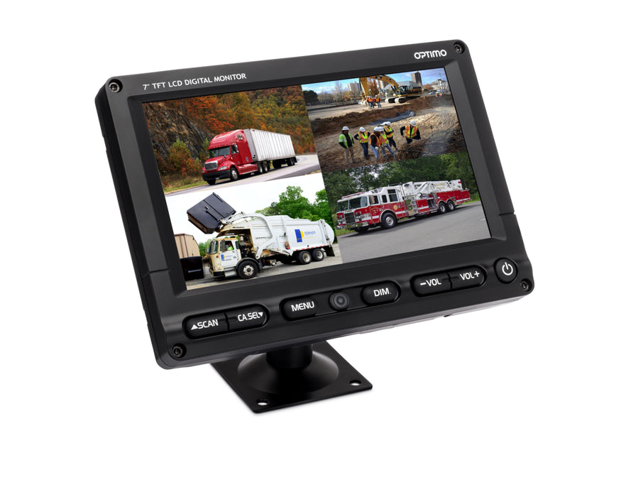 "7"" LED IP65 Waterproof Monitor - 4CH"