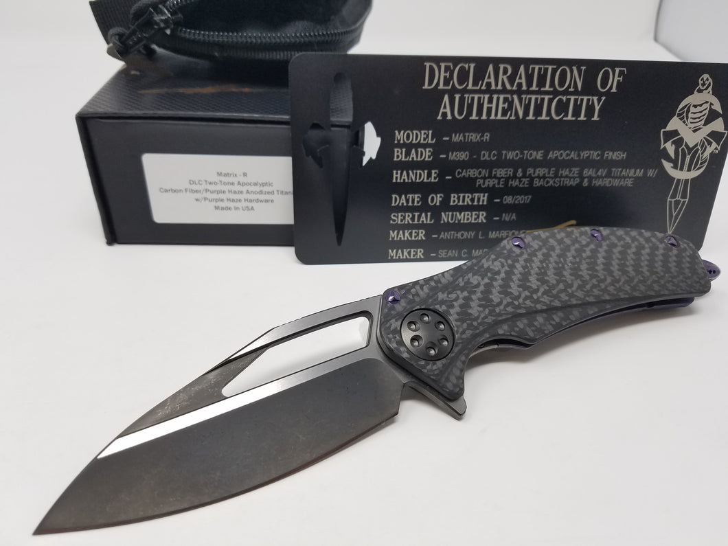 Marfione Custom Matrix-R Flipper Carbon Fiber/Purple Haze (Dark Matter)