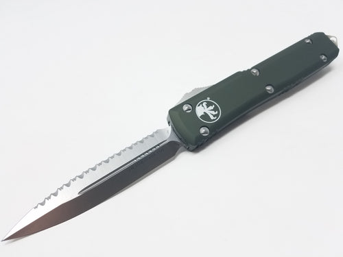 Microtech Ultratech D/E Satin 122-6OD Full Serrated