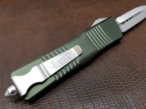 Combat Troodon D/E Full Serrated OD Green Satin 142-6OD
