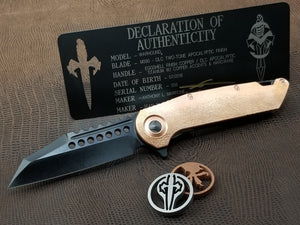Marfione Custom Warhound Folder Apocalyptic DLC Blade Eggshell Copper