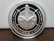 Marfione Dagger & Spartan .999 Sterling Proof Challenge Coin NEW