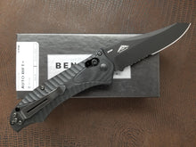 Benchmade Rift Automatic Knife Black Part Serrated Reverse Tanto 9555SBK