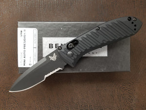 Benchmade Mini Presidio II Automatic Knife Black Serrated 5750SBK