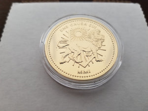Marfione Custom Continental Medallion 24k Gold Embellished John Wick Assassin Coin NEW