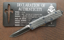 Marfione Custom UTX-85 S/E Two-Tone DLC Carbon Fiber Blue Ring Ti S/N 002
