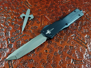 Marfione Custom Combat Troodon T/E Tanto Mirror Polished Star Grind Blue Ring