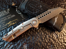 Marfione Custom Warhound Folder Eggshell Copper Chad Nichols Damascus