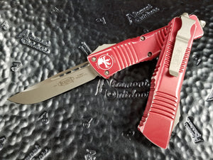 Microtech Combat Troodon S/E Stonewash Red Distressed 143-10DRD