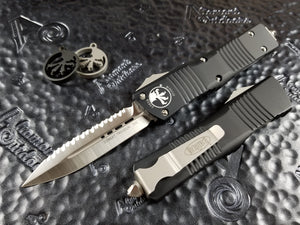 Microtech Combat Troodon D/E Full Serrated Satin 142-6