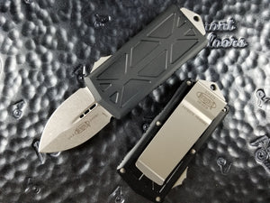 Microtech Exocet Dagger Stonewashed 157-10 California Legal OTF Automatic Knife Money Clip