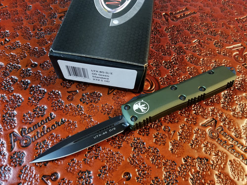 Microtech UTX-85 D/E OD Green Standard 232-1O pre-owned