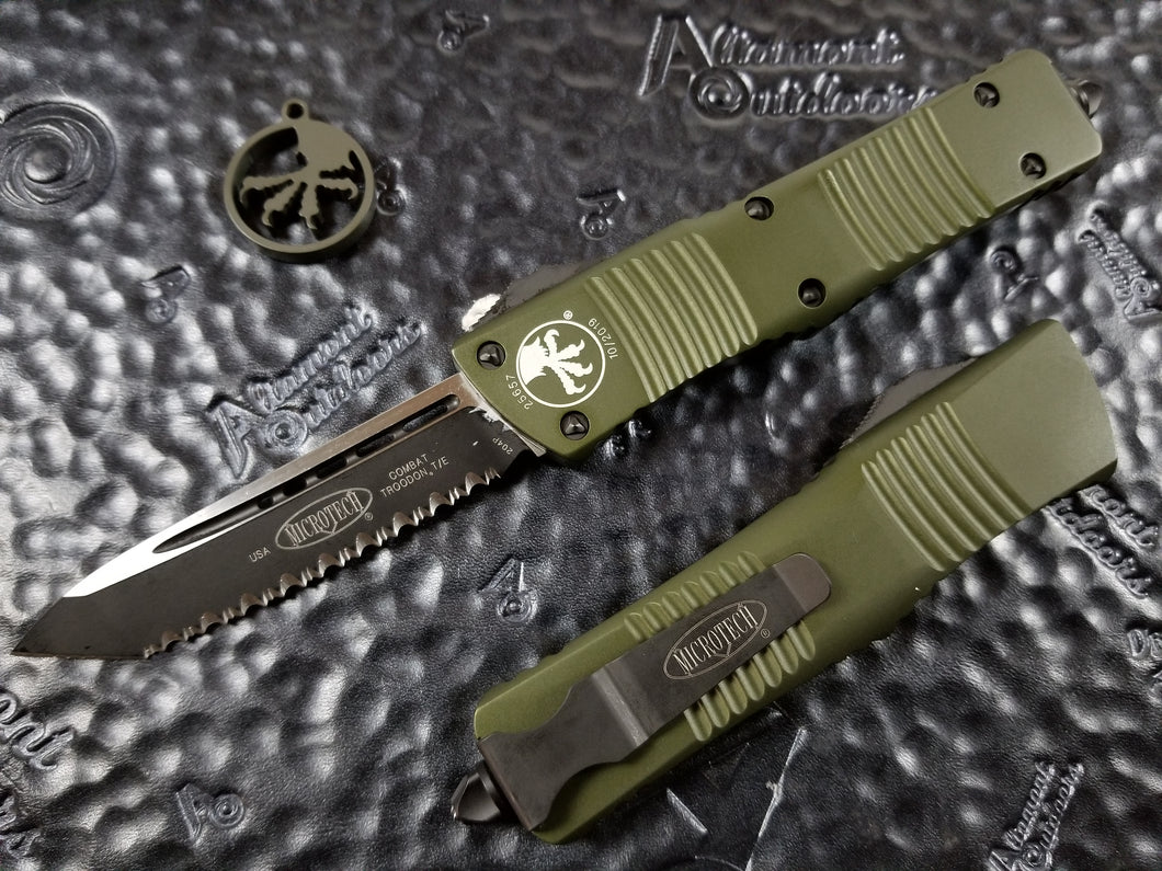 Microtech Combat Troodon T/E Full Serrated OD Green 144-3OD Tanto