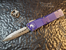 Microtech Combat Troodon Distressed Purple D/E Double Double Full Serration 142-D12DPU Apocalyptic