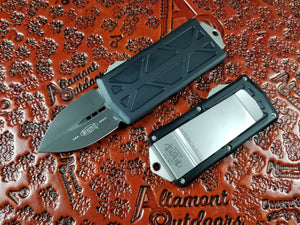 Microtech Exocet Dagger Black 157-1 California Legal OTF Automatic Knife Money Clip
