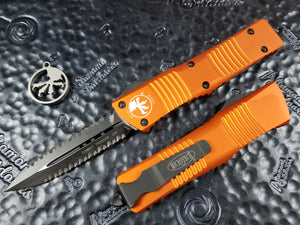 Microtech Combat Troodon Orange D/E Double Double Full Serrated 142-D3OR