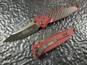 Microtech Socom Elite Manual S/E Merlot Carbon Fiber Inlay 160-1MRCFI