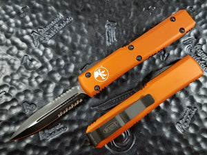 Microtech Ultratech D/E Orange Partial Serrated 122-2OR
