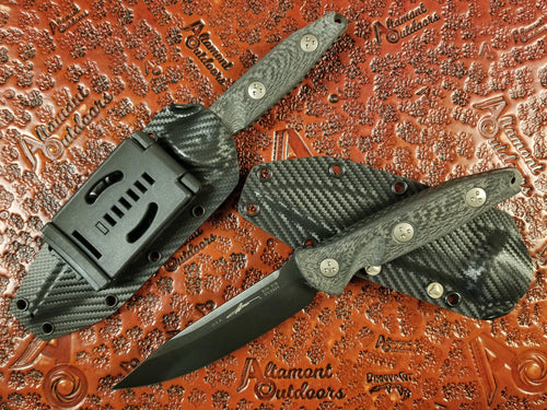 Microtech Socom Alpha Fixed Blade Knife DLC Carbon Fiber Signature Series 113-1DLCCFS
