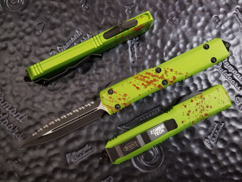 Microtech Ultratech ZOMBIE D/E Full Serrated 122-3Z
