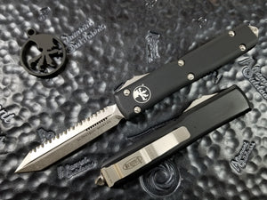 Microtech Ultratech Spartan Full Serrated Stonewashed 223-12