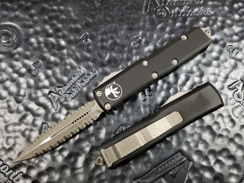 Microtech UTX-85 D/E Apoc Double Full Serrated Automatic OTF 232-D12AP Double Double